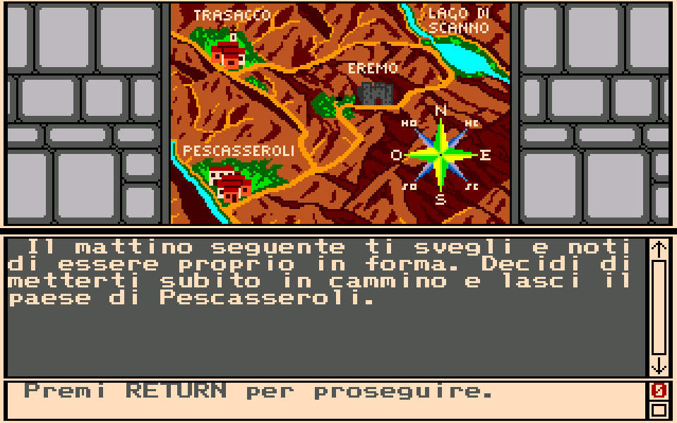 Italy&Videogames. Esplorando l'Abruzzo fantasy di Profezia - Mappa Abruzzo