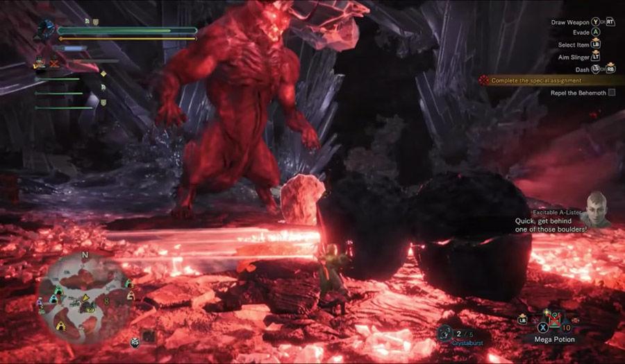 Guida - caccia - Behemoth - armatura - guida behemoth - caccia - MHW - Monster hunter world - FF - Final Fantasy XIV - collaborazione - collaboration - Ecliptic Meteor - meteora eclissi