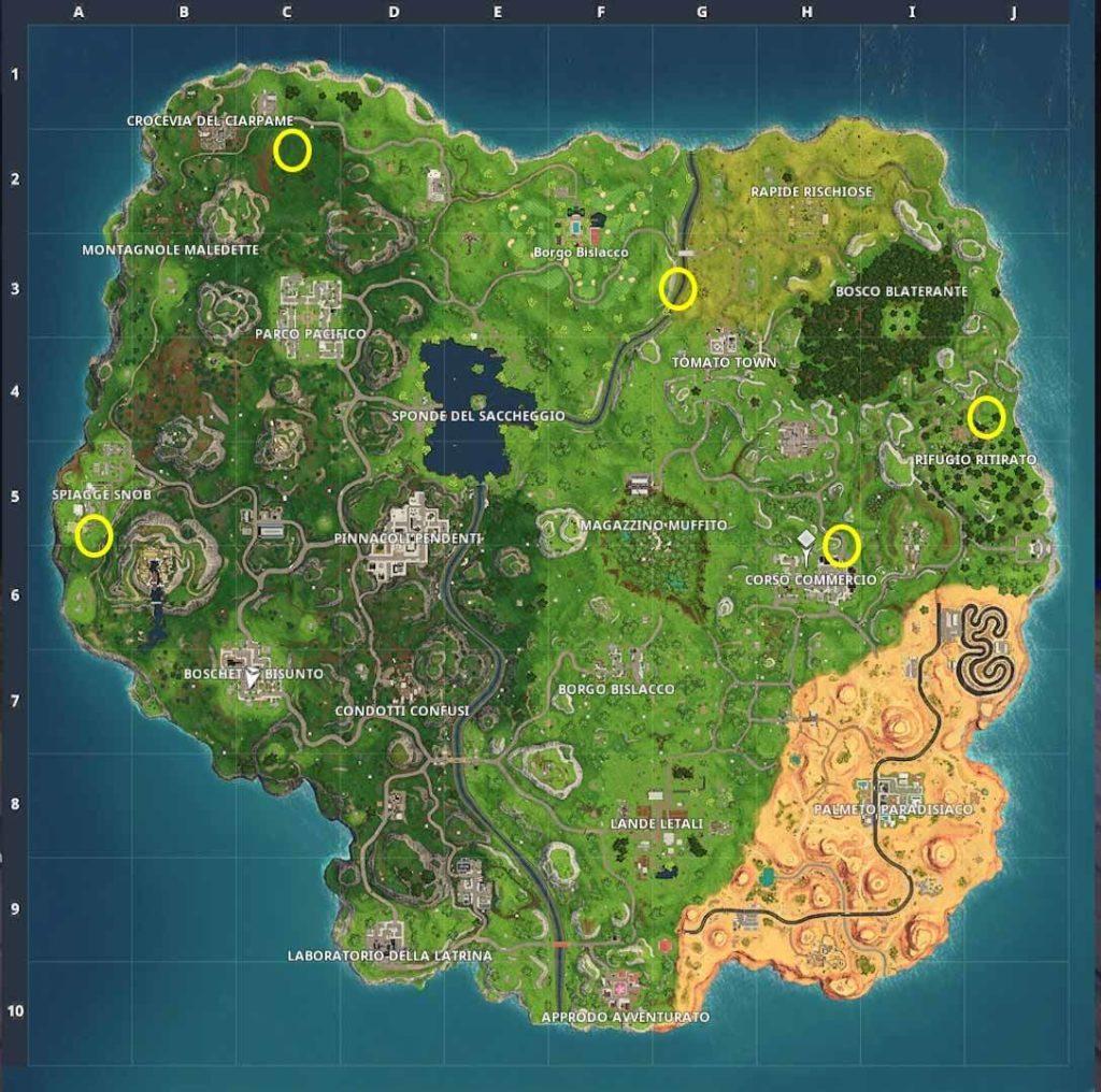 Fortnite Mappa prova a tempo stagione 5