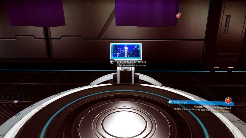 stazione personalizzazione personaggio