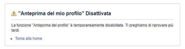 Facebook visualizza come disattivato