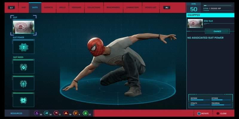 spider-man costume ESU foto segrete