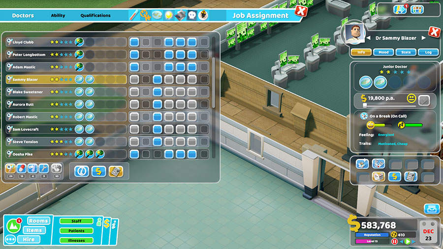 two point hospital guida