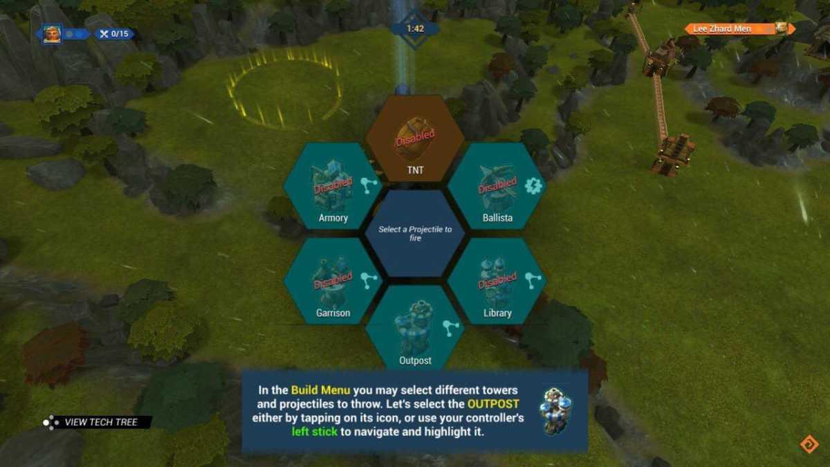 Siegecraft Commander menù costruzione