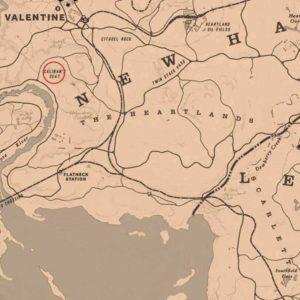 posizione ulla mappa del tesoro di jack hall