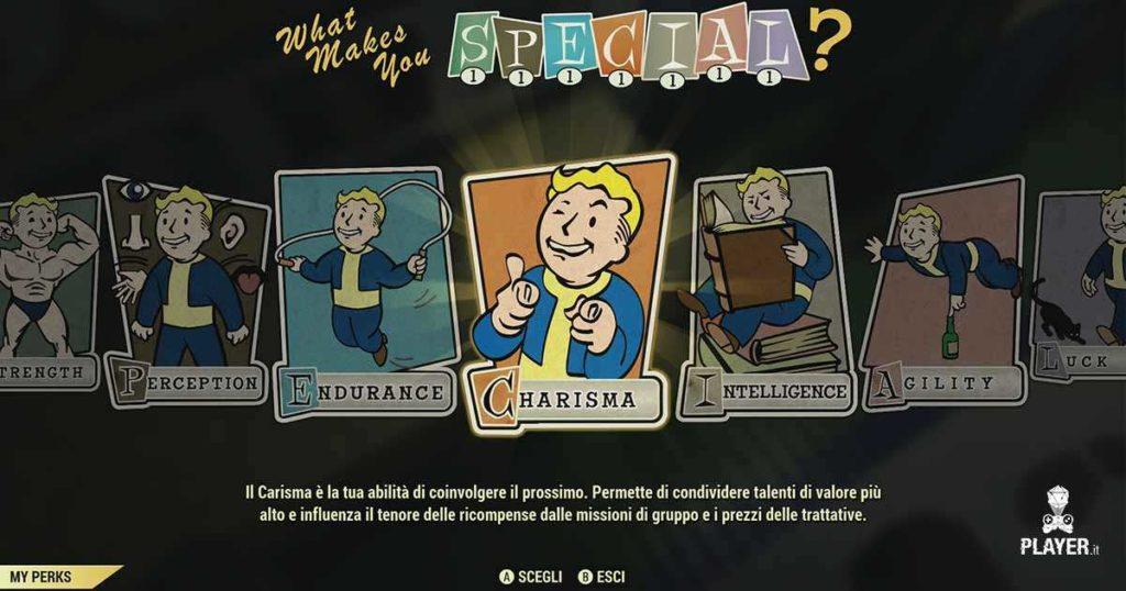 Fallout 76 carte e abilità