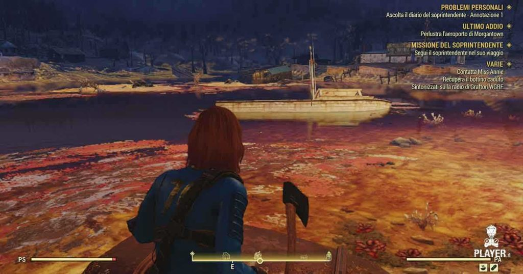Fallout 76 il lago radioattivo