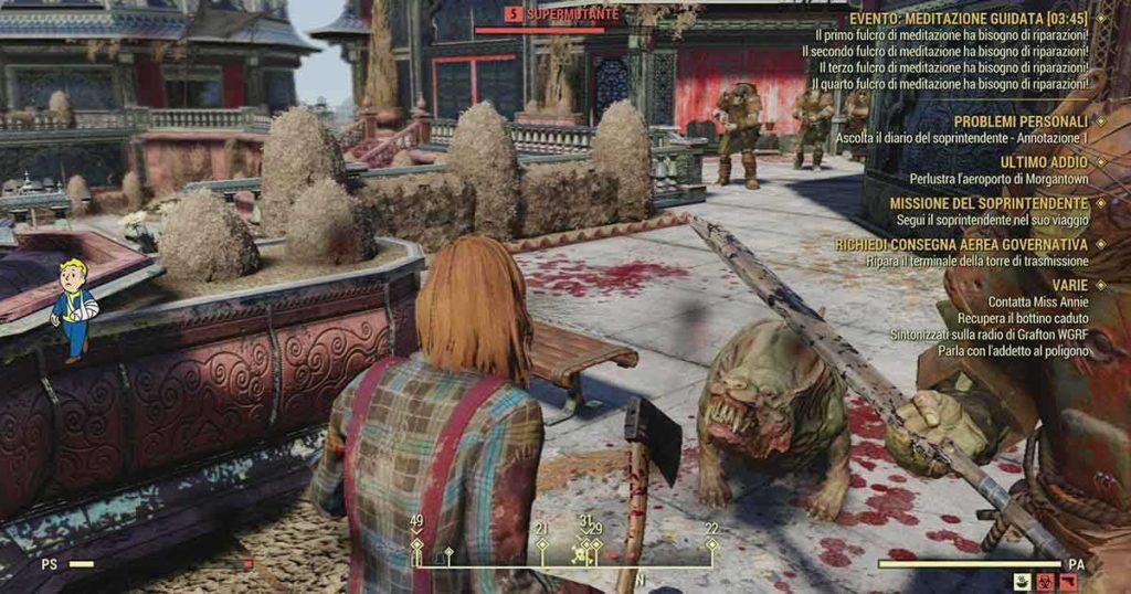 Fallout 76 e la battaglia con i supermutanti