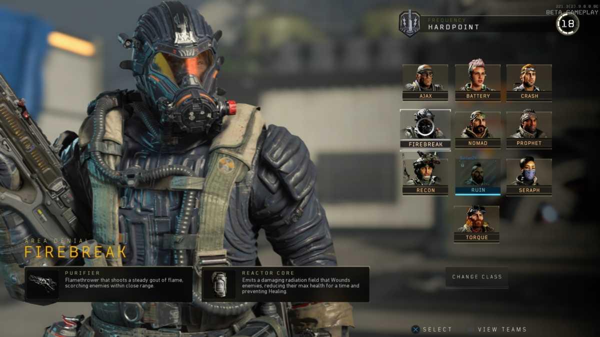 firebreaker è uno degli specialisti di black ops 4