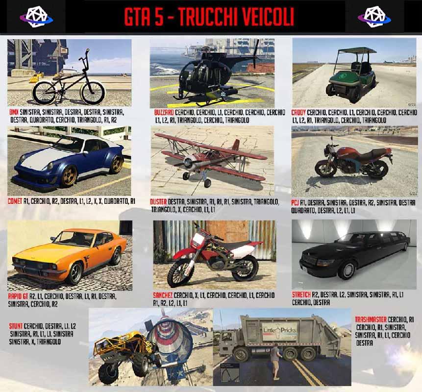 GTA 5 TRUCCHI VEICOLI IN UNA SOLA IMMAGINE