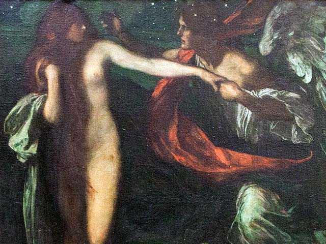 I figli di Dio, le figlie degli Uomini, qual è l'origine dei Nephilim, Nephilim nell'arte, Greiffenhagen Nephilim