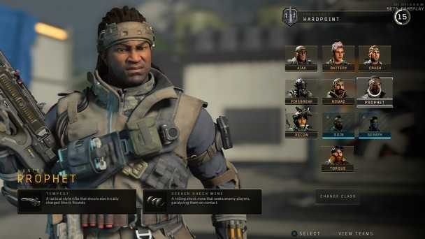 Prophet, personaggio specialista selezionabile in black ops 4