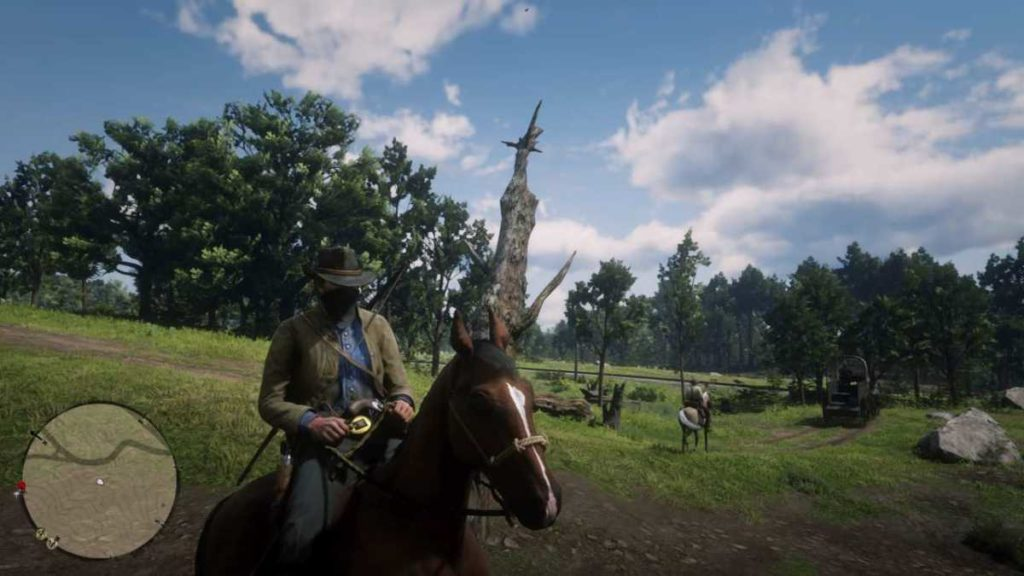 Red Dead Redemption 2 a cavallo frontale