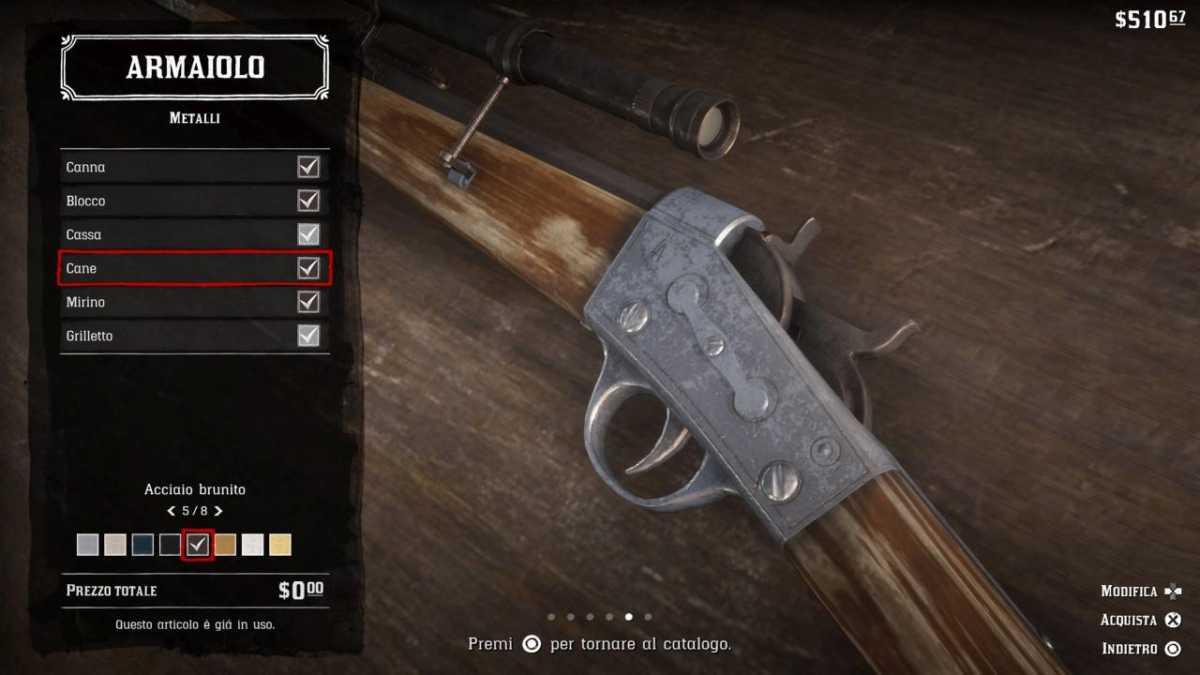 Red Dead Redemption 2 armi