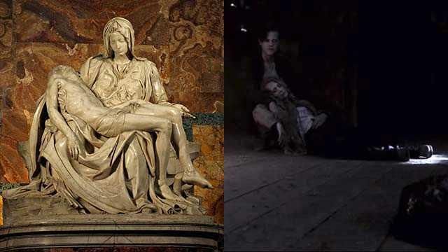 La Pietà di Michelangelo, Michelangelo nelle serie TV, arte nelle serie TV, arte in Supernatural, statua in Supernatural, Mary Winchester e Jack, Jack e Mary in Supernatural