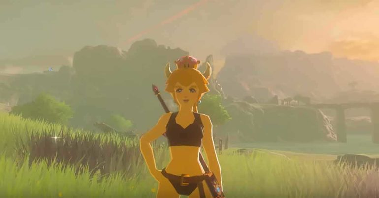 The Legend of Zelda breath of the wild Bowsette