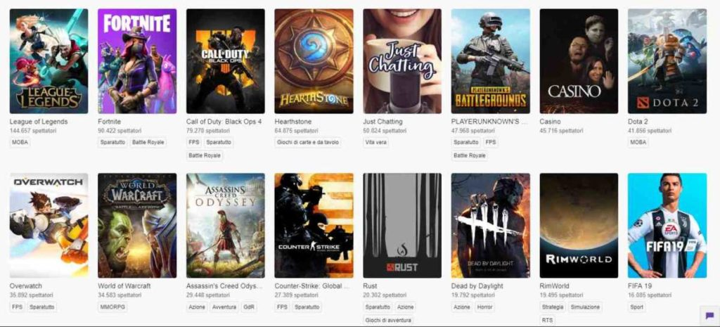 Call Of Duty: Black Ops 4 twitch classifica