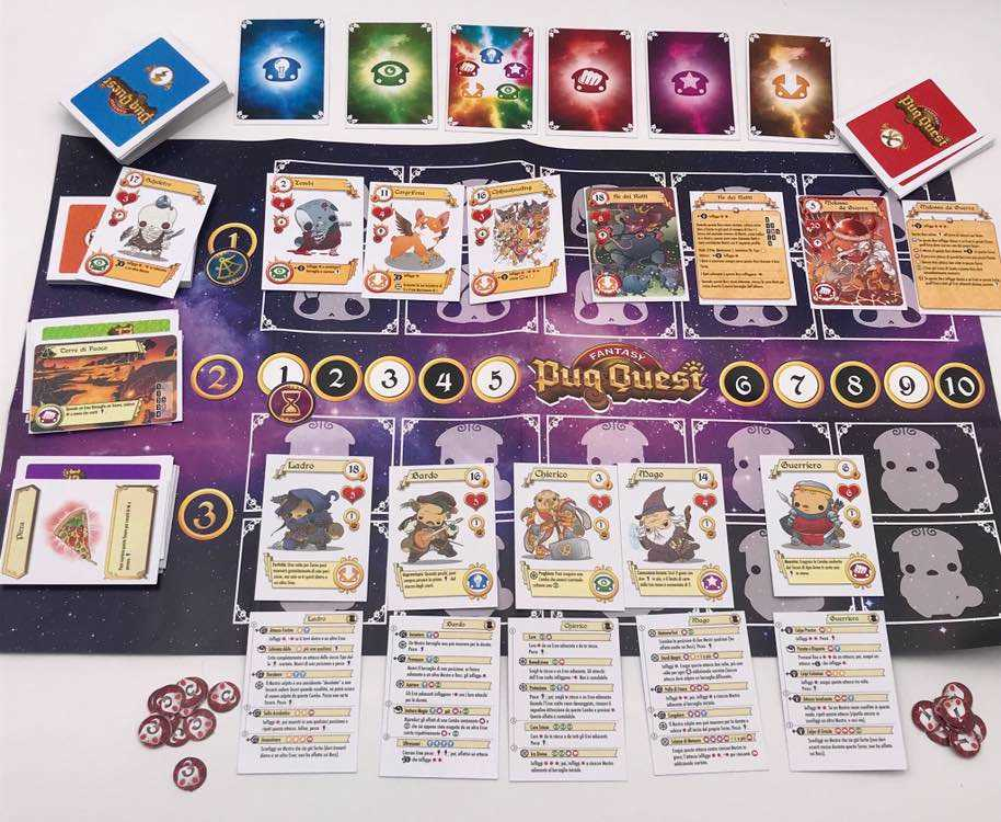 fantasy pug quest recensione gdt boardgame tin hat games