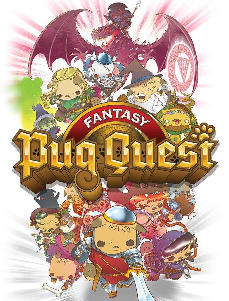 fantasy pug quest recensione copertina gdt boardgame tin hat games