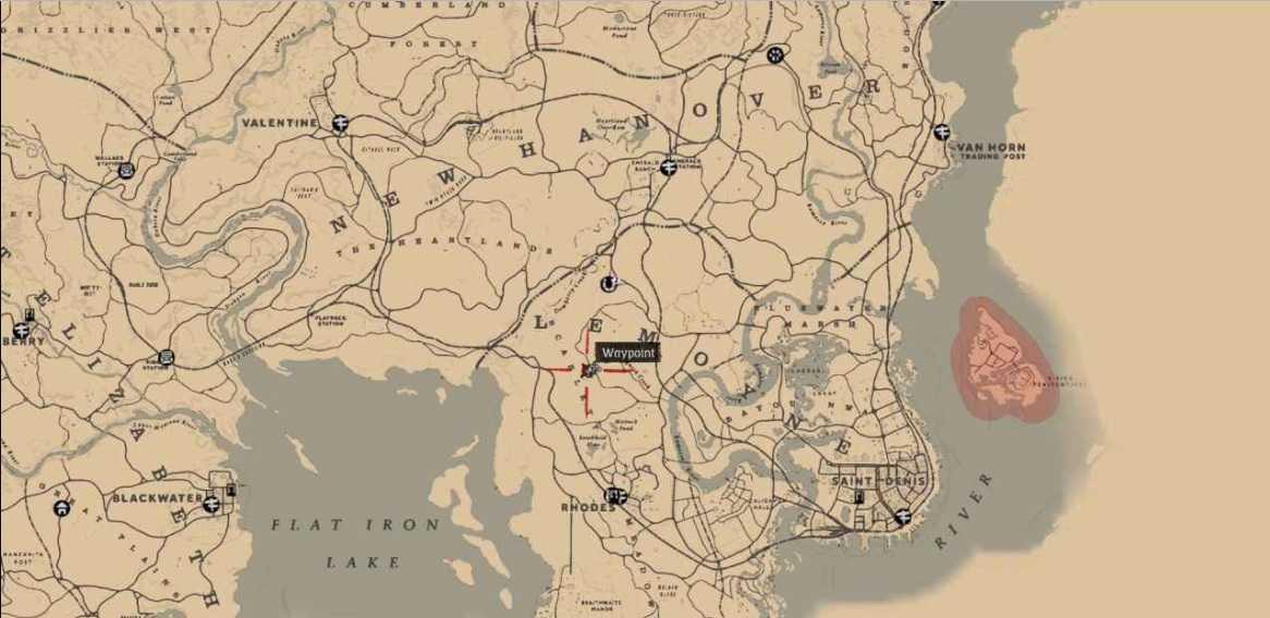 mappe del tesoro di rdr2