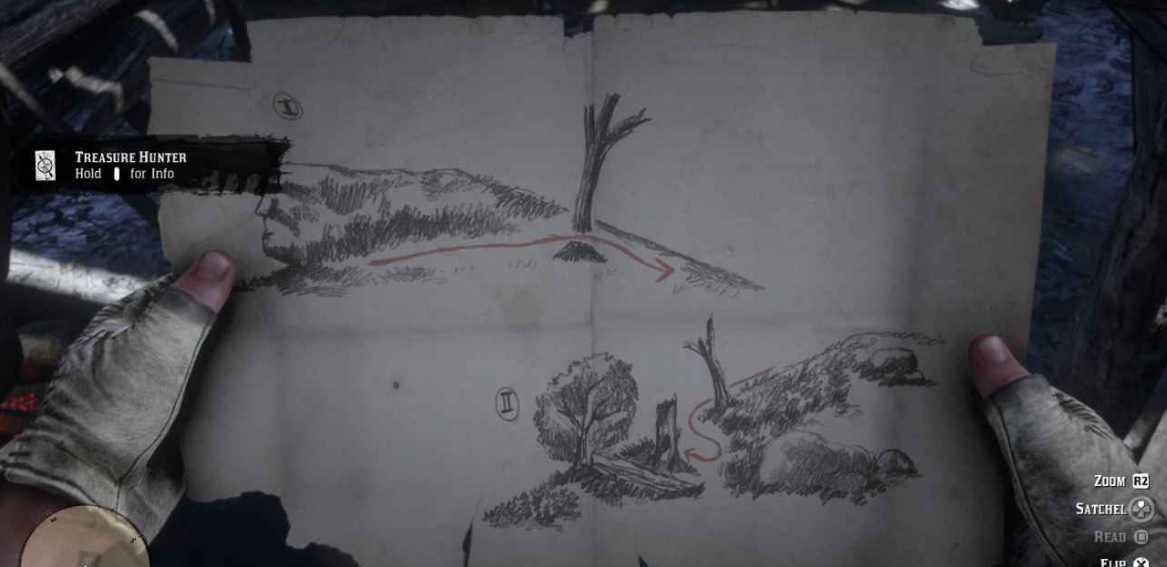 mappa del tesoro scia velenosa rdr2
