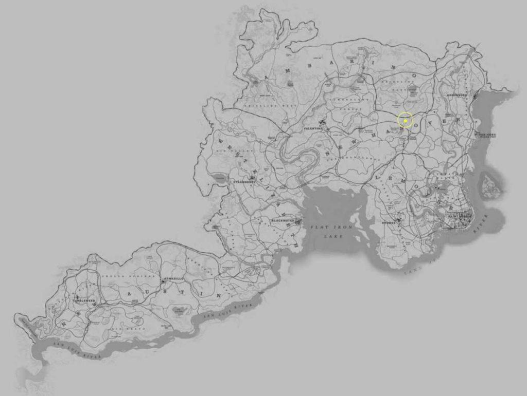 Red Dead Redemption 2 sermone misterioso mappa