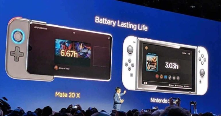 huawei mate 20 x contro nintendo switch