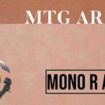 Mazzi MTG Arena Mono R Aggro