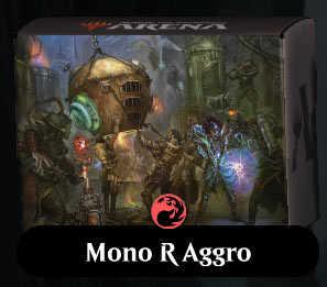Mtg arena mono rosso aggro tier 1 mazzo