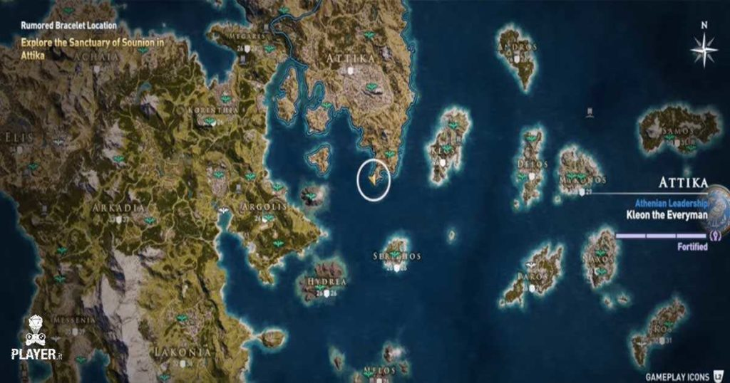 Assassin's Creed Odyssey Guida alle mappe di Xenia