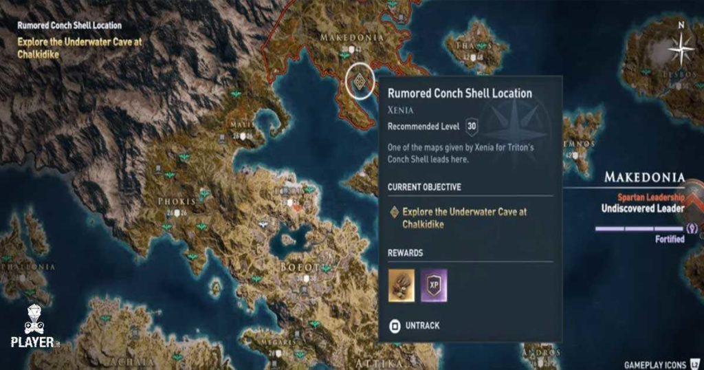 Assassin's Creed Odyssey Guida alle mappe di Xenia