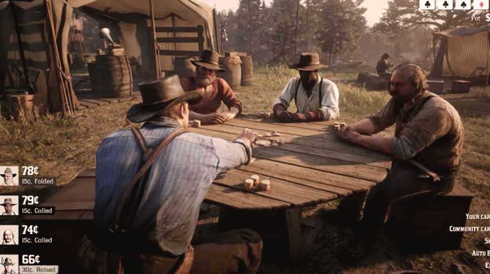 scommesse e poker in red dead redemption 2