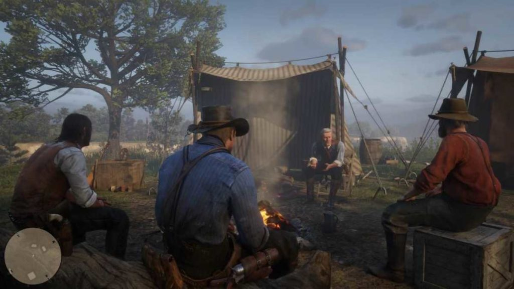 red dead redemption 2 gameplay trailer figurine delle sigarette falò