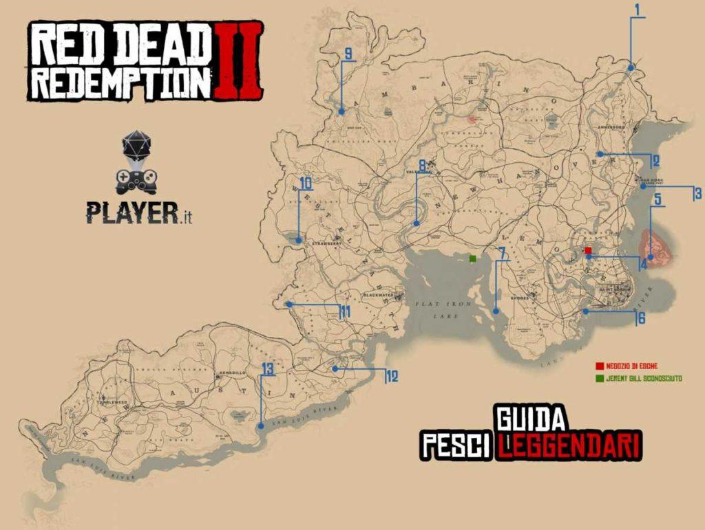 Dove trovare i pesci leggendari in Red Dead Redemption 2