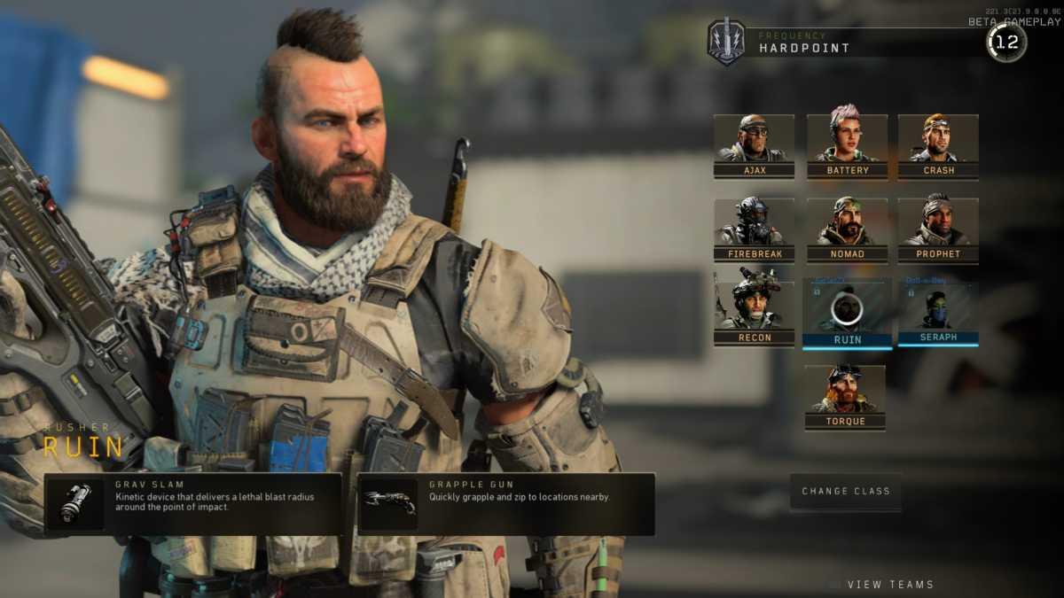 Ruin è uno dgeli specialisti di Black Ops 4