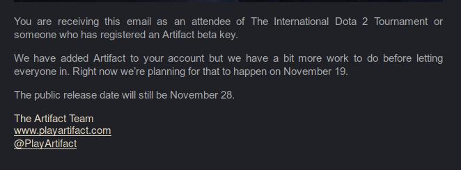 Artifact beta
