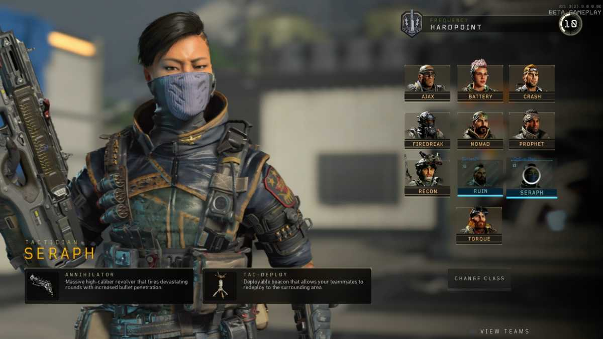 seraph, una specialista di call of duty black ops 4