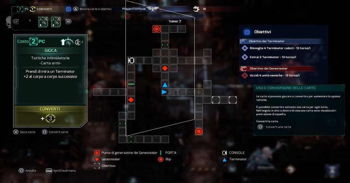 space hulk tactics come funziona il sistema di carte