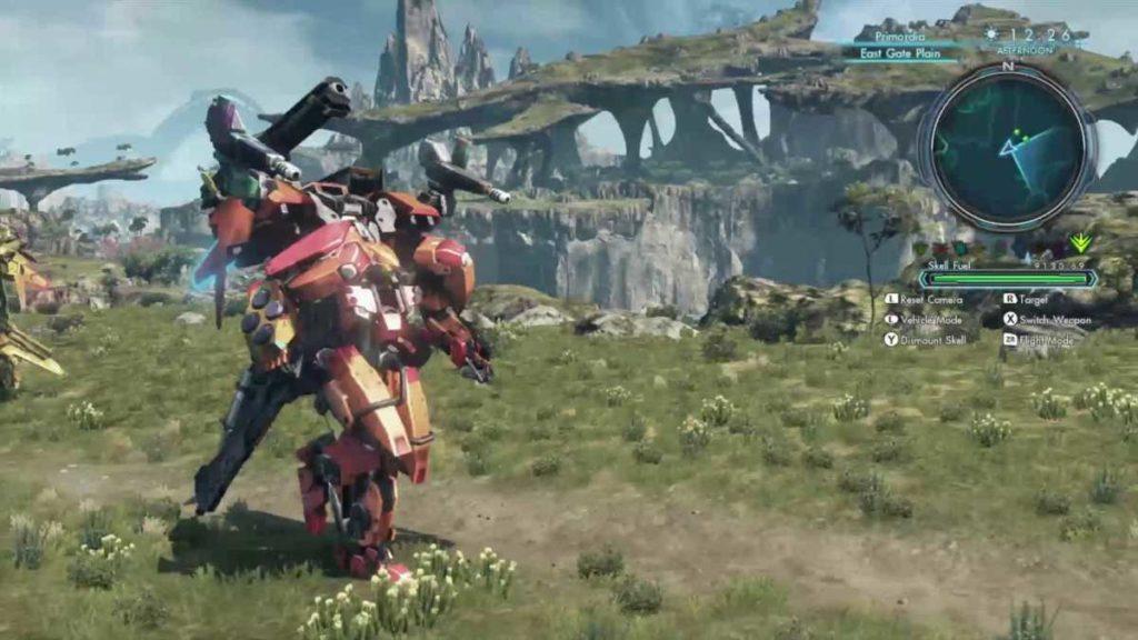 Xenoblade Chronicles X gameplay