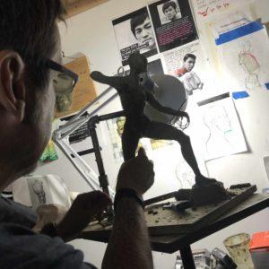 il processo creativo della statua di Aloy