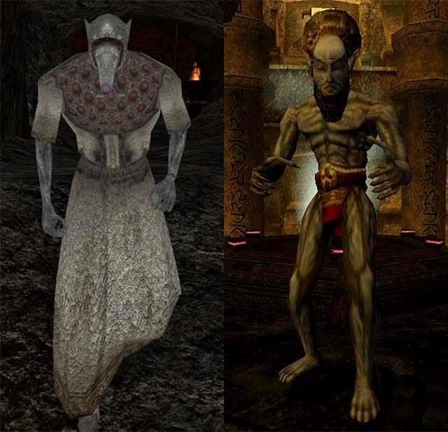 Ash Ghoul in Morrowind, Ash Vampire in Morrowind, Ghoul delle Ceneri in Morrowind, Vampiri delle Ceneri in Morrowind