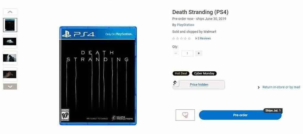 Death Stranding data d'uscita