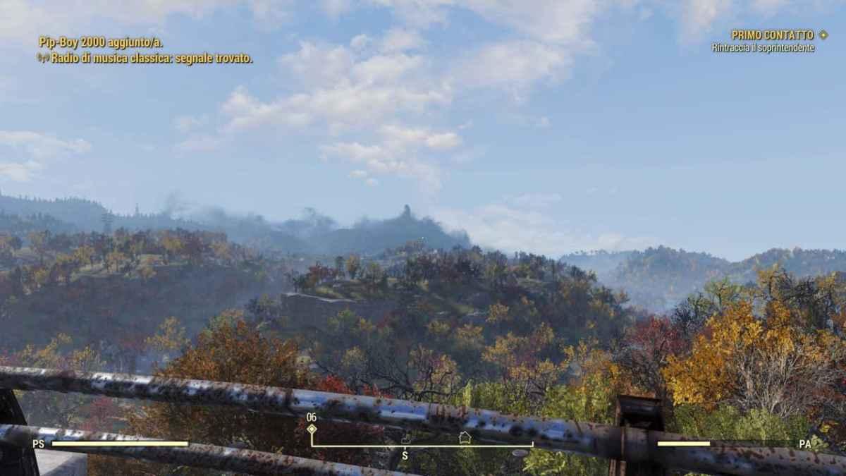 Panorama dell'open world di fallout 76
