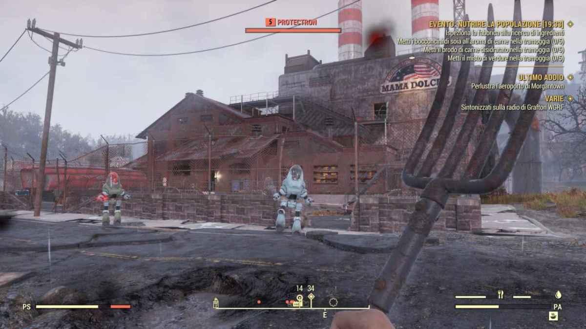 primi nemici all'esterno del vault in fallout 76