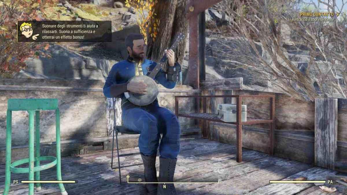 Suonare strumenti in Fallout 76