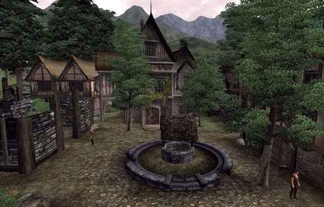 Il centro della cittadina di Hackdirt di Oblivion