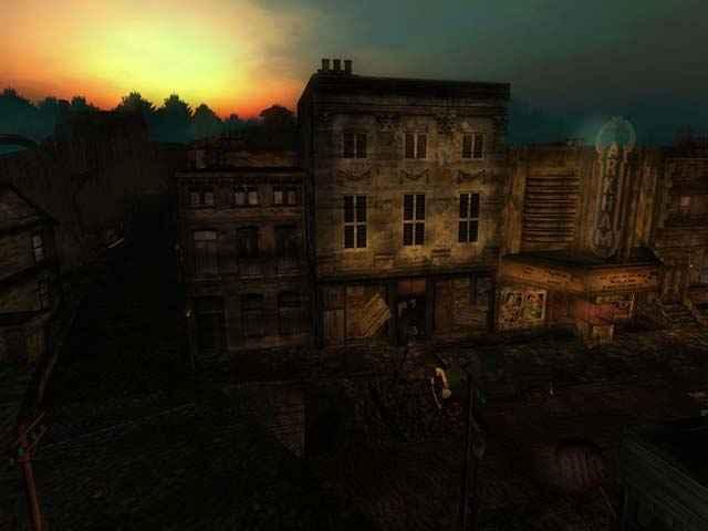 Interpretazione artistica della Innsmouth delle opere di Lovecraft