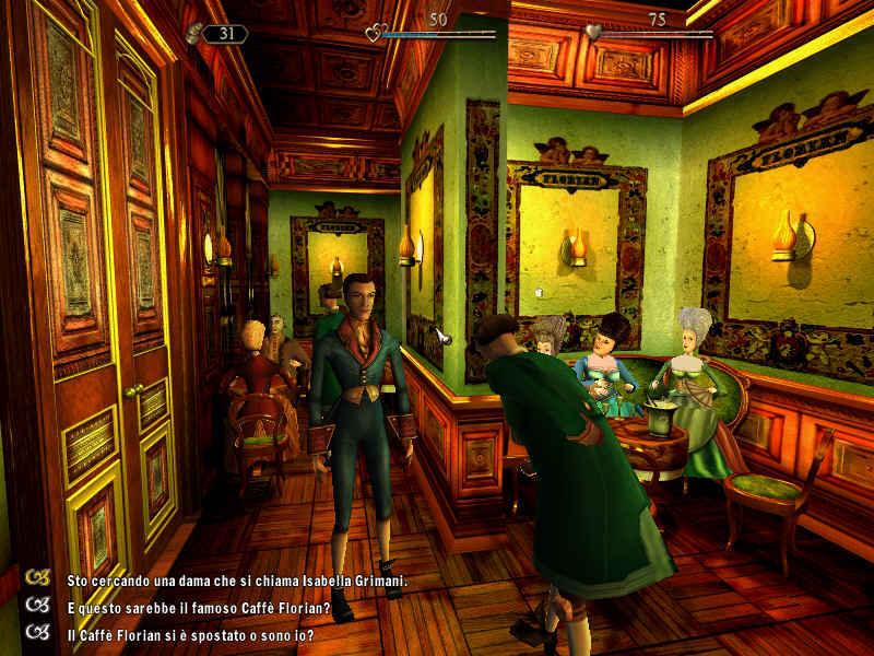 Italy&Videogames, Casanova il duello della Rosa Nera - Caffè Florian