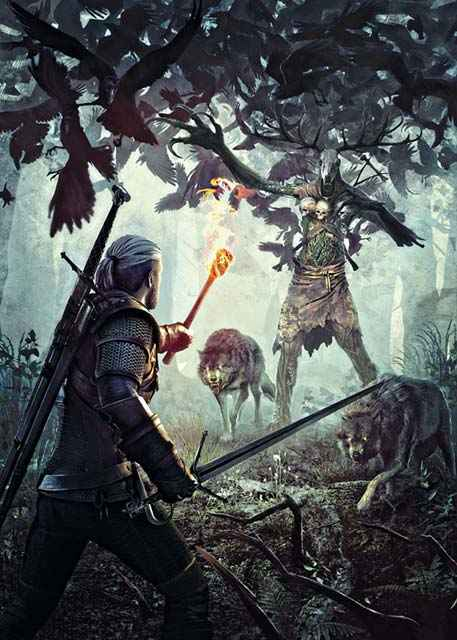 I Leshen in The Witcher 3, l'aspetto dei Leshen in The Witcher 3, mostro simile a un Wendigo in The Witcher 3