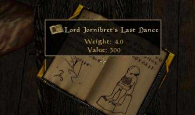Lord Jornibret's Last Dance, libro Cthulhu in Morrowind, Cthulhu in Morrowind, Cthulhu in The Elder Scrolls